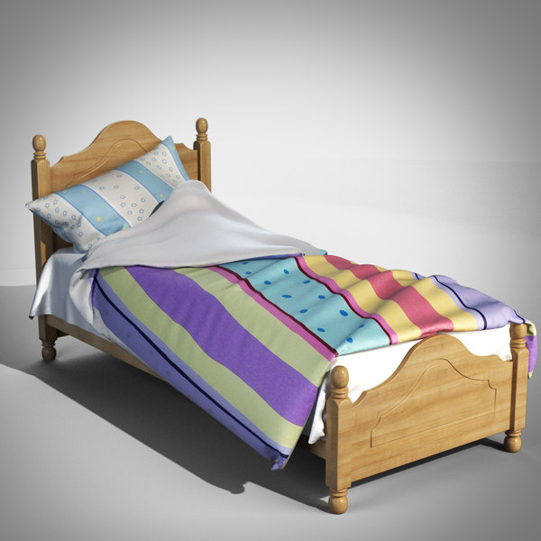 kid bed 3d model
