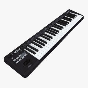 midi keyboard 49 3d max