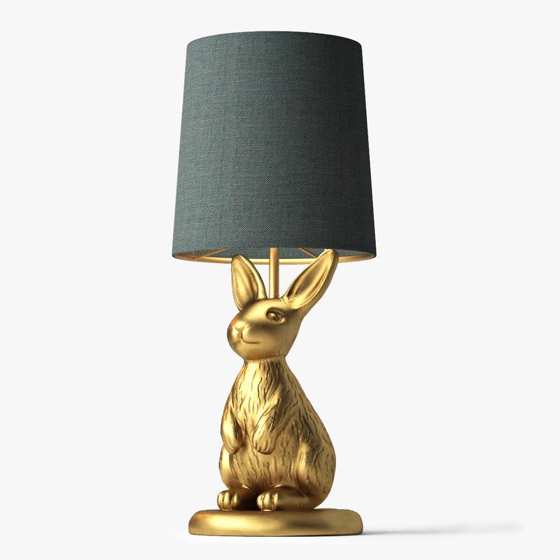 3d model emily meritt brass bunny