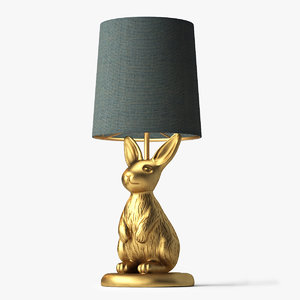 3d model emily meritt brass bunny