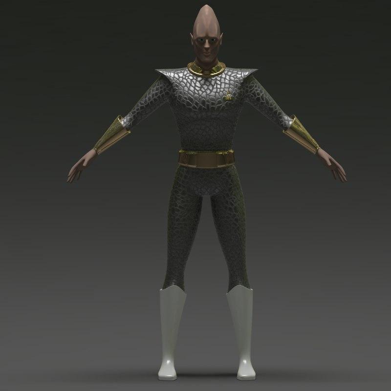 alien triangle eye 3d model