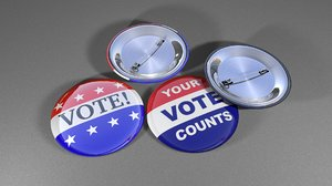 3d vote buttons badge