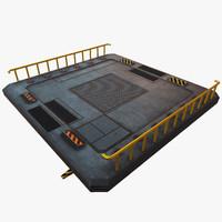 sci fi platform 3d model