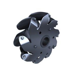 3d max mecanum omni wheel robot