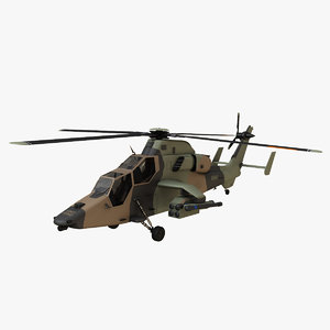 3d helicopter eurocopter tiger