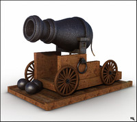 vessel cannon 3d model