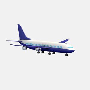 cartoon toon airliner 3d x