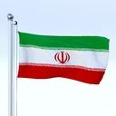 Iran flag 3D models