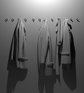 jackets shawel 3d 3ds