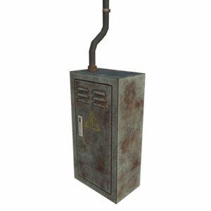 rusty fuse box 3d model