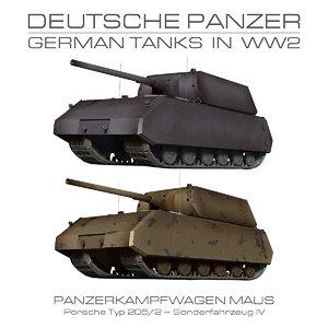 3d maus - german tank model