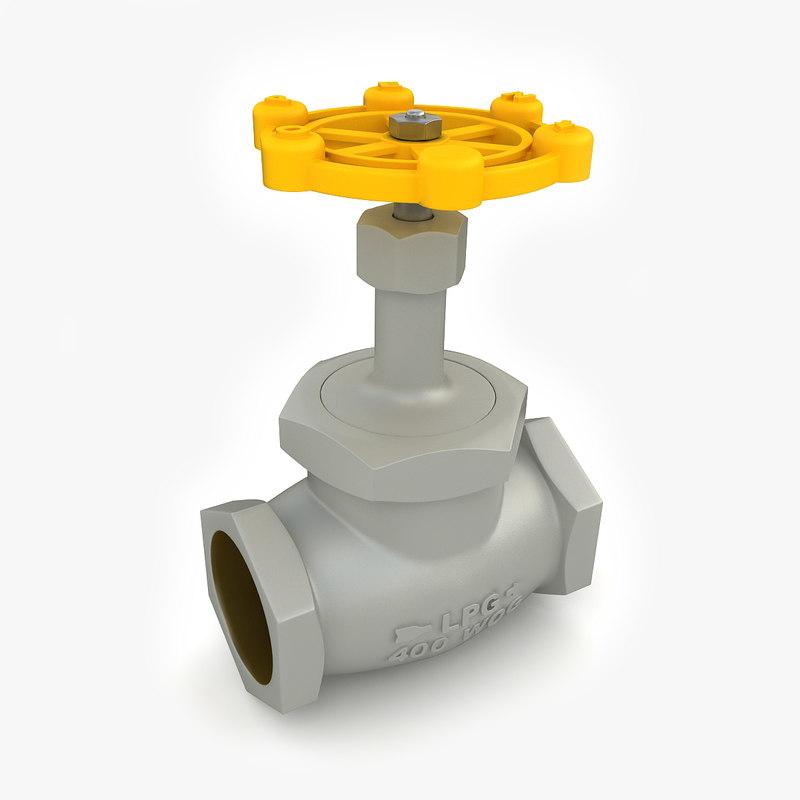 3d model vintage valve 03