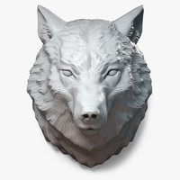 Wolf Head Sculpture Calm