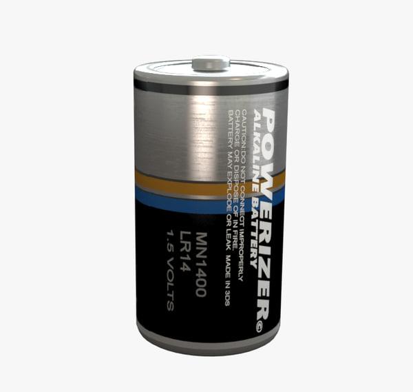3d model battery