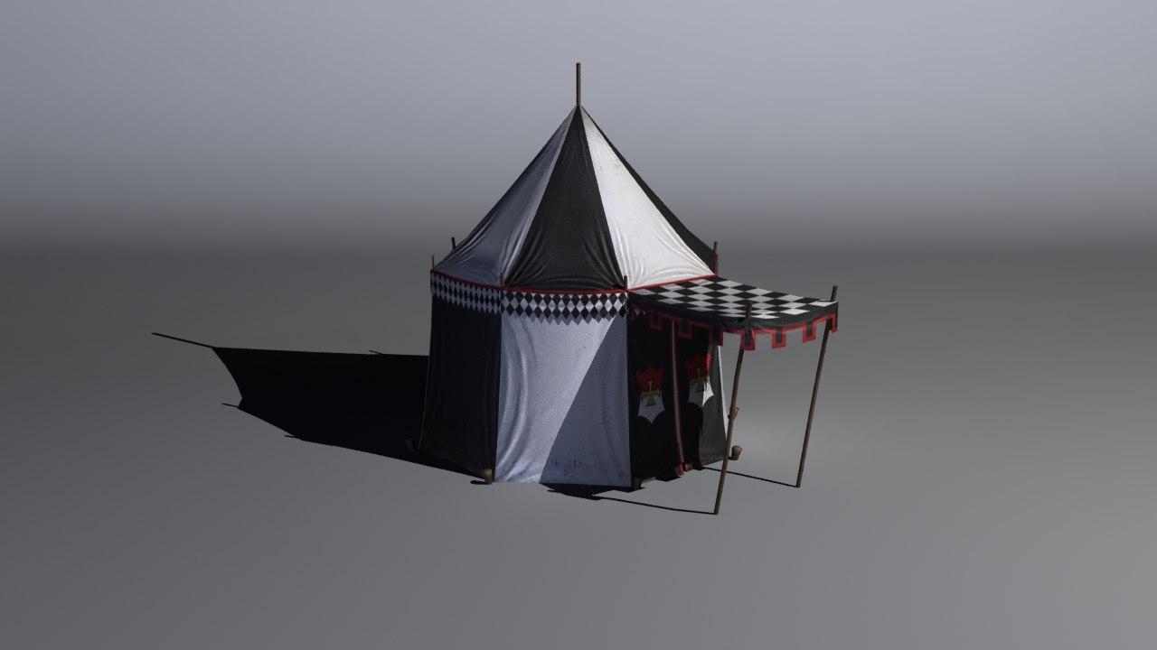 medieval tent 3ds