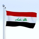 Iraq flag 3D models