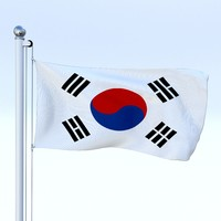 Animated South Korea Flag