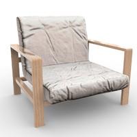 3d sofa chair pbr model