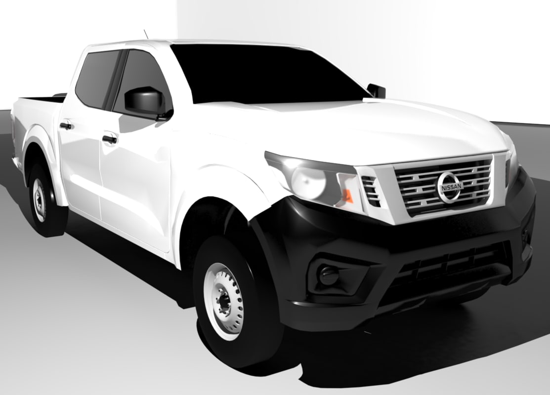 nissan np300 2016 double 3d model