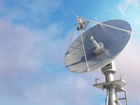 3d model radio satellite