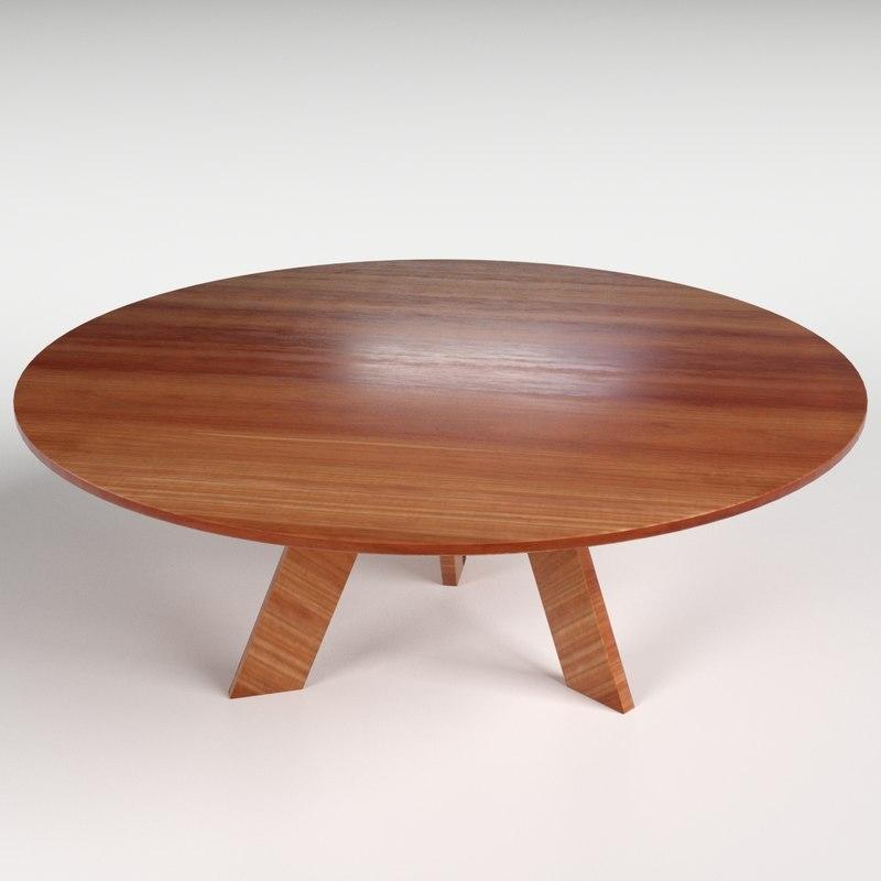 3d circular table 2