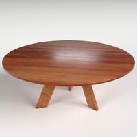 3d circular table 2 model