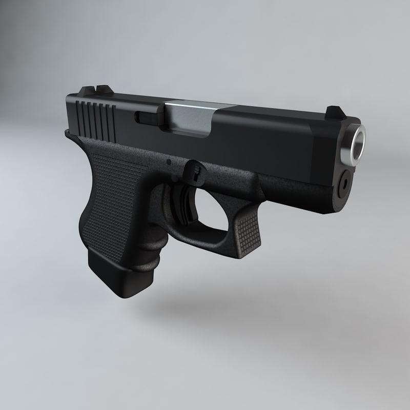 3d c4d firearm glock 27