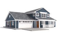 dwg home siding garage