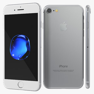 3d max iphone 7 silver