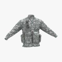 3d military jacket camo model