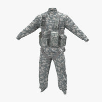 3d model helicopter pilot uniform camo