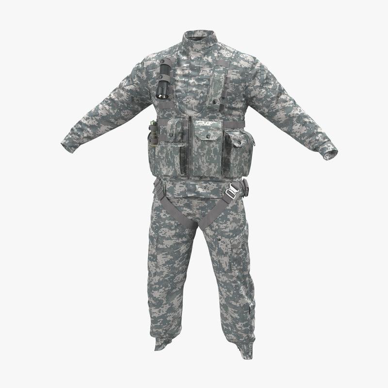 3d model helicopter pilot uniform camo
