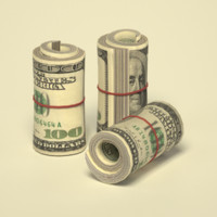 dollar roll low poly