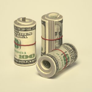 dollar stack 3d 3ds