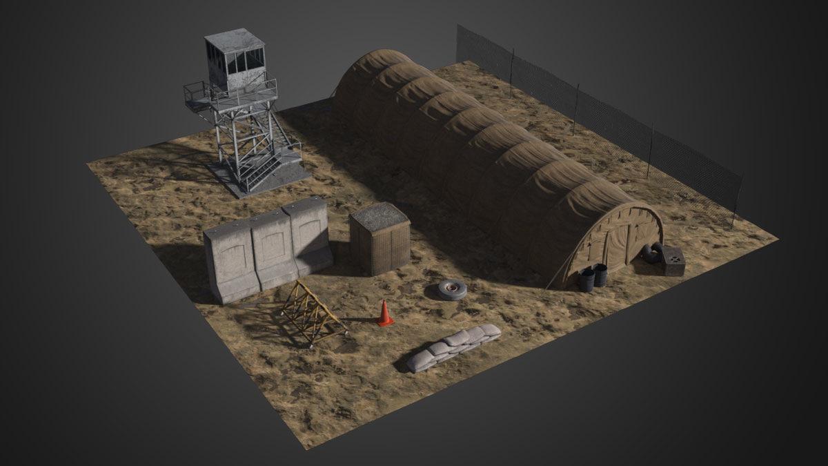 military assets 3d model