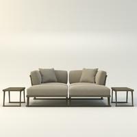 designer sofa gio 3d model