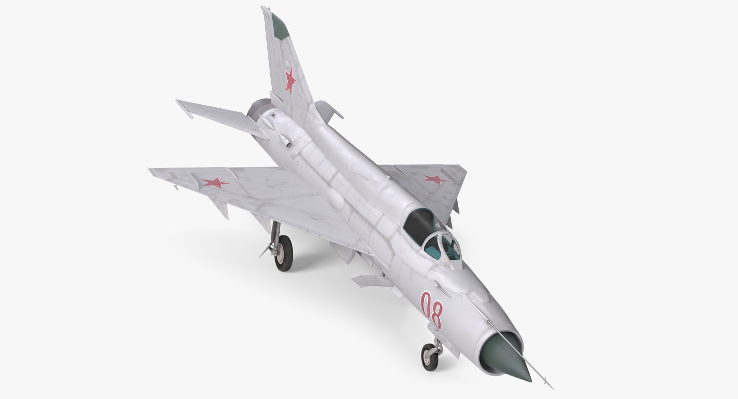 fighter mig-21 fishbed russian 3d model