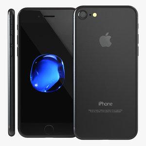 3d iphone 7 black