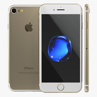 iphone 7 gold 3d max