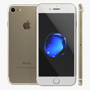 iphone 7 gold 3d max
