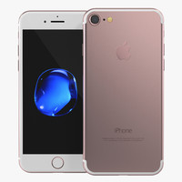 iphone 7 rose gold 3d model