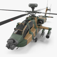 3d ah-64d apache longbow japan model