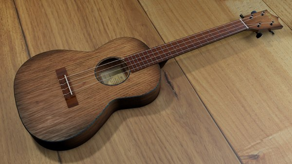 3d ukulele strings model