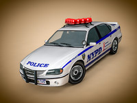 nypd police car c4d