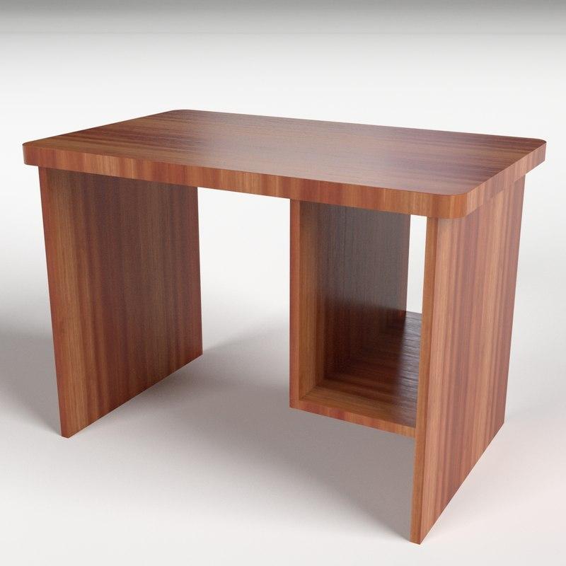 3d computer desk 1 model