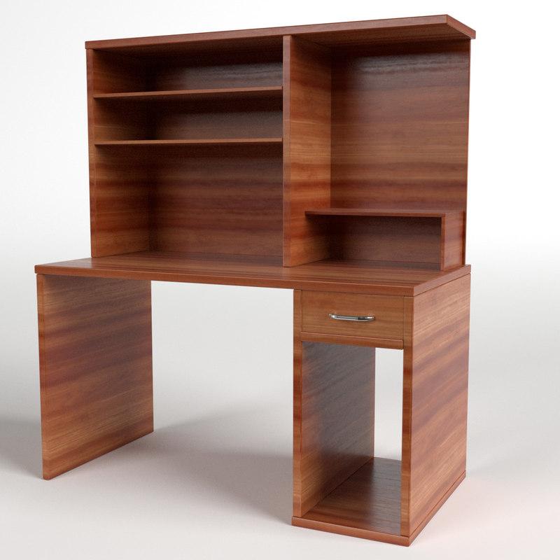 3d computer desk 2
