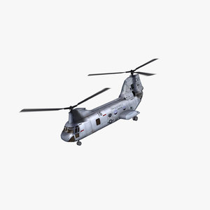ch-46 seaknight helicopter 3d max
