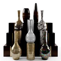 max vases wooden interior