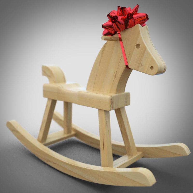 3d model rocking horse gift