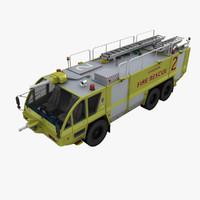 3d model rosenbauer mk-8 truck